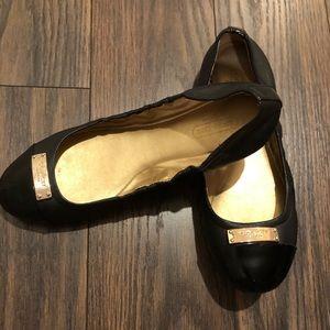Black Coach Ballet Flats